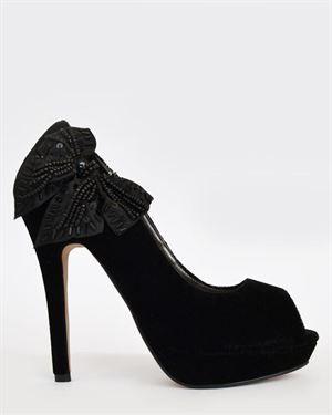 0ddd4833 Paula Soler Bow Embellished Heels | whishlist