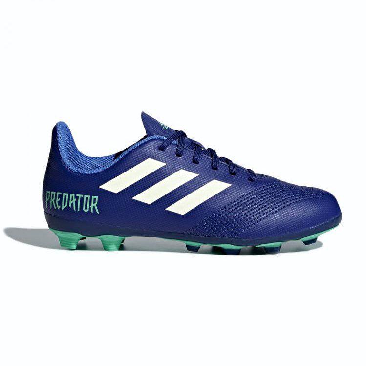 Buty Pilkarskie Adidas Predator 18 4 Fxg Junior Cp9242 Wielokolorowe Niebieskie Kids Football Boots Football Boots Astro Football Boots