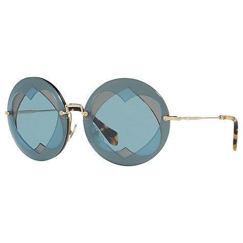 cc850eef45b0 Buy Miu Miu MU 01SS Round Sunglasses Online at johnlewis.com