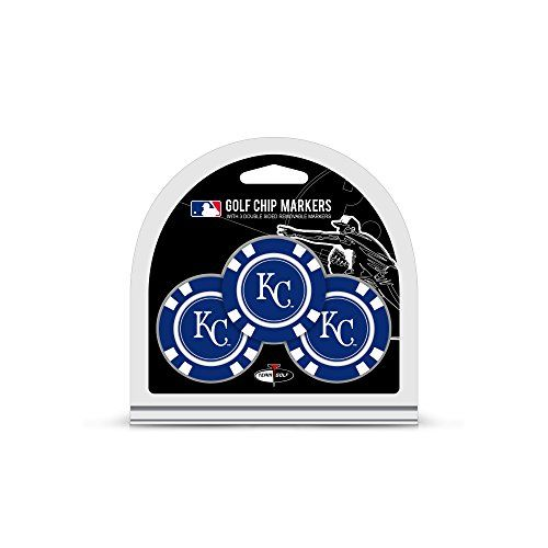 Mlb Kansas City Royals 3 Pack Golf Chip Ball Markers Set Includes 3 Team Colored Golf Chips With Removable Doub Golf Chipping Ball Markers Golf Ball Markers