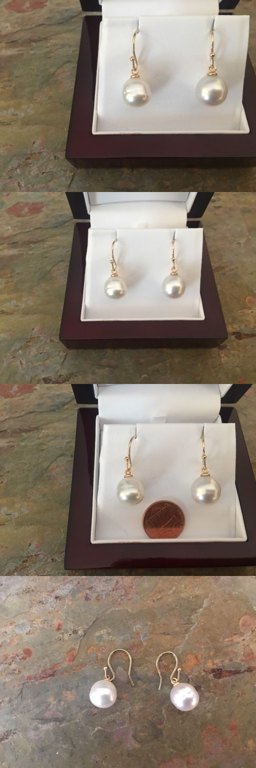 Pearl 10990: 14 Kt Yellow Gold And Paspaley South Sea Pearl Earring Shepard Hook New 12Mm -> BUY IT NOW ONLY: $399.99 on eBay!
