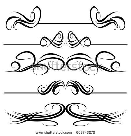 Decorative monograms and calligraphic borders Template signage - wedding labels template