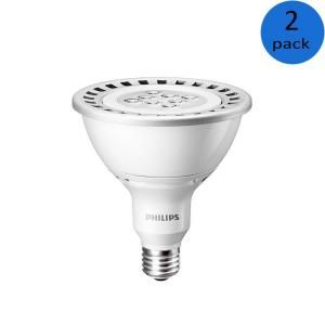 Philips 120w Equivalent Bright White 3000k Par38 Dimmable Led Flood Light Bulb E 2 Pack 432954 The Home Depot Light Bulb Dimmable Led Led Flood