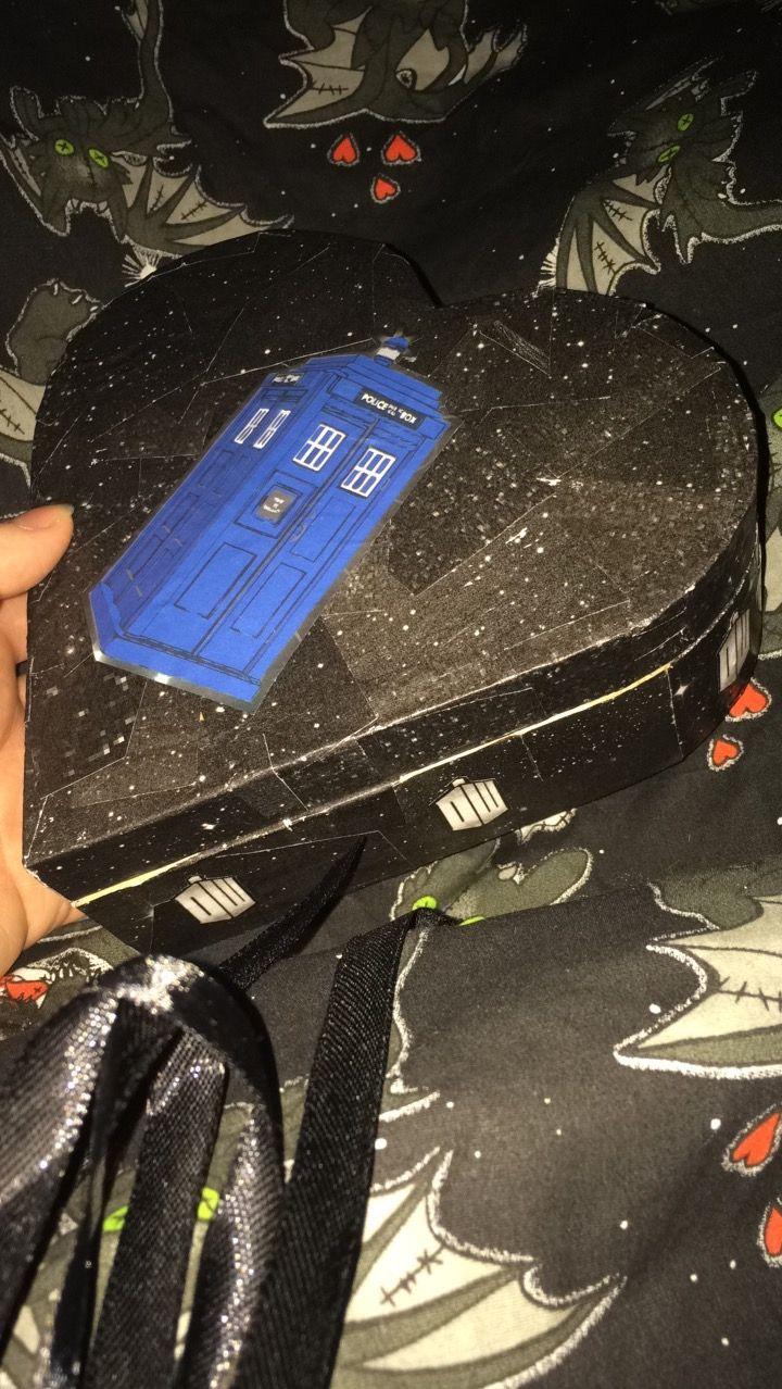 Decoupage Dr Who Tardis Jewellery box, made with mod podge