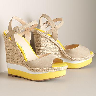 fcc01d1a9 ELLE™ Platform Wedge Sandals sale  34.99