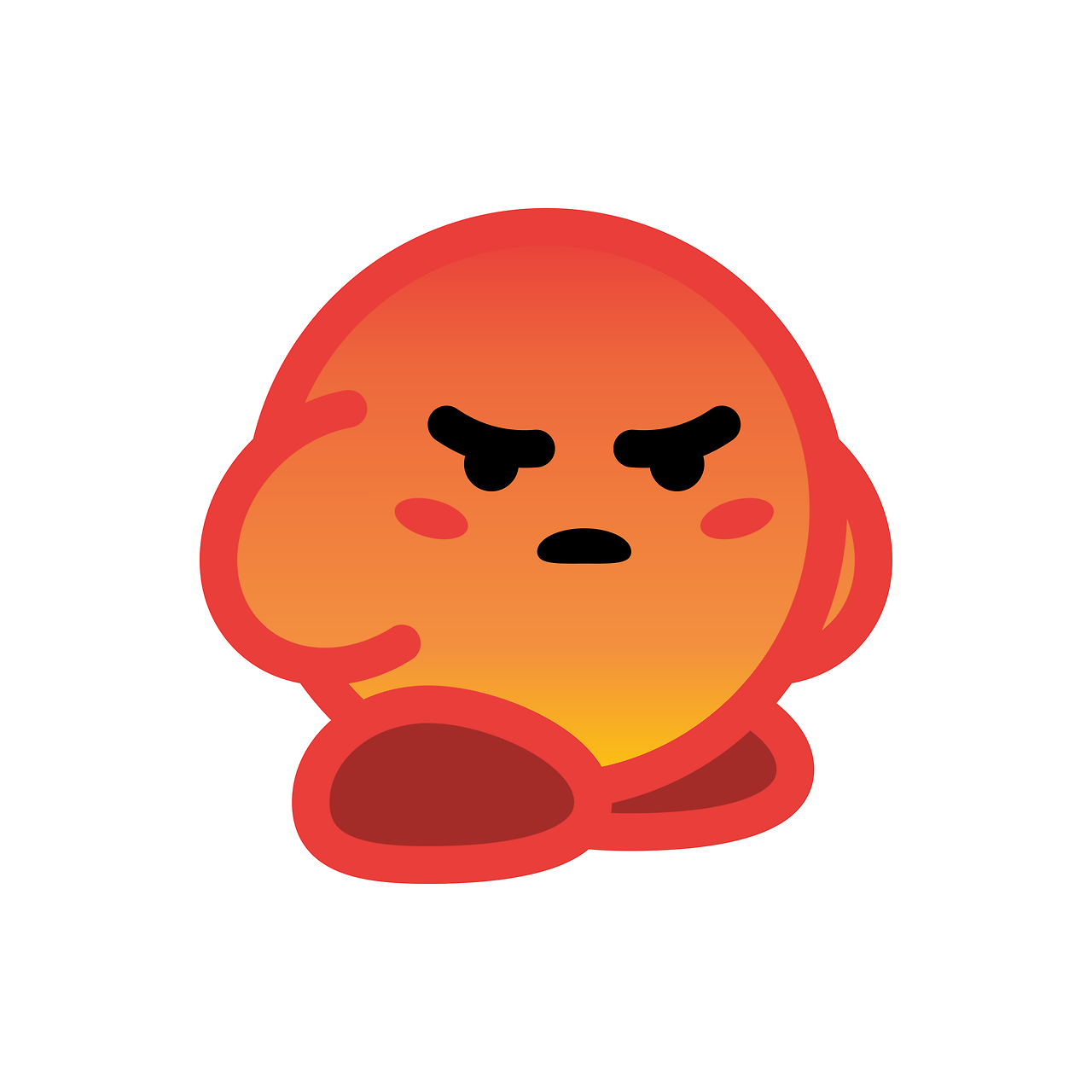 Angry React Kirby A Small Collection That I Ll Be Noah Mead Kirby Cute Memes Money Stickers