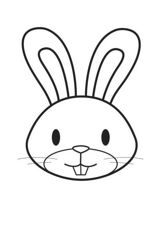 Dibujo de la cabeza de un conejo … | EASTER | Pinterest | Conejos ...