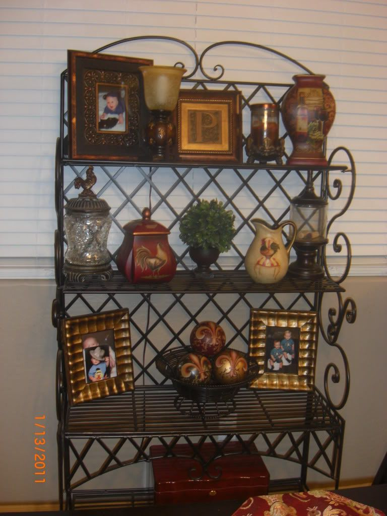 The Heart Of The Home With Images Decor Bakers Rack Decorating Tuscan Decorating