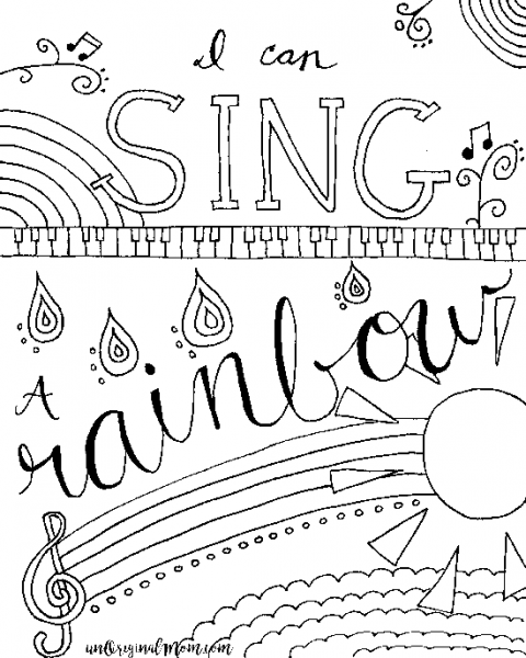 coloring pages music Relax & Color   Free Printable Musical Coloring Page | Adult  coloring pages music
