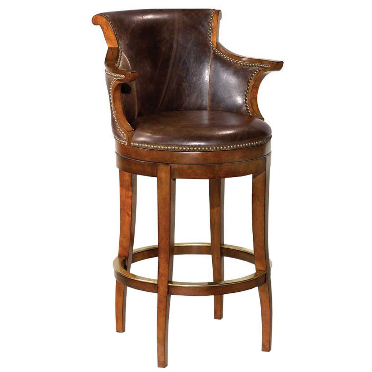 Marvelous Woodbridge Furniture Swivel Leather Bar Stool In 2019 Caraccident5 Cool Chair Designs And Ideas Caraccident5Info
