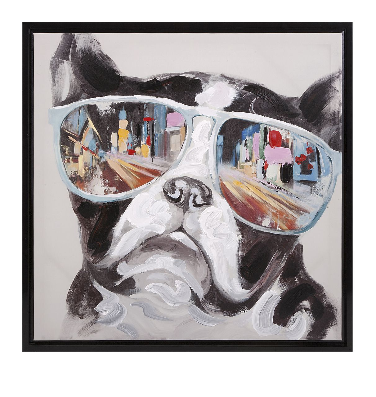 Boston Terrier Framed Canvas - Delamere Design | Wall Art and Wall ...