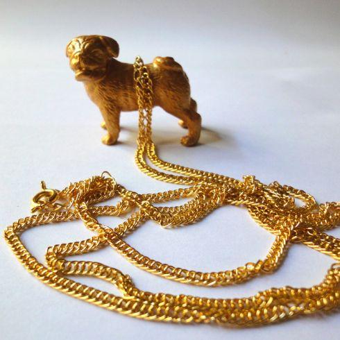 Mops-Kette / Pug necklace #Mops #Schmuck #Kette #Hund #pug #dog #jewellery #necklace #DIY