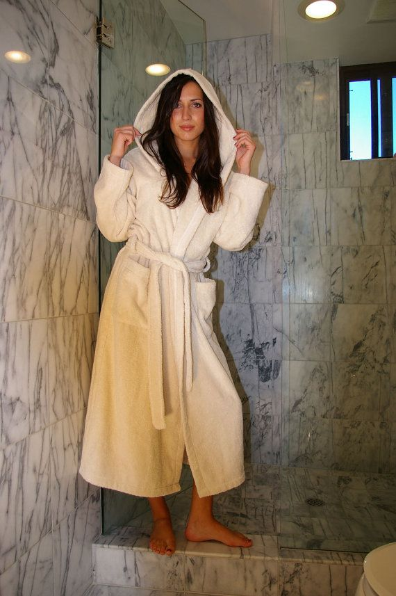 13e3ca563b Organic Cotton Hooded Bathrobe No Dye or Chemical used 100% Natural  85.00  By Organic Cotton Factory