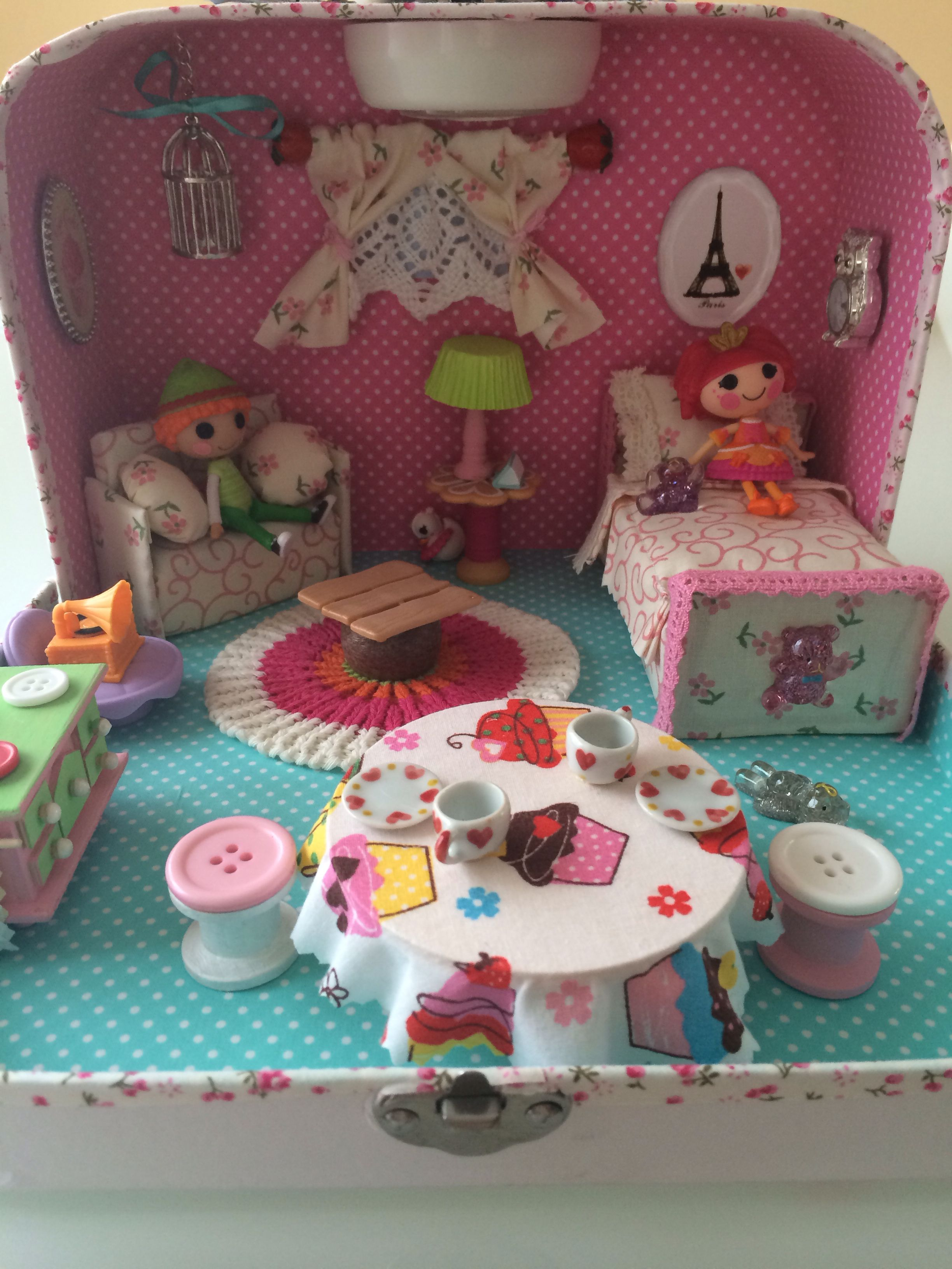 Lalaloopsy Home. In A Travel Case. Diy Dollhouse, Dollhouse Furniture,  Dollhouse Miniatures