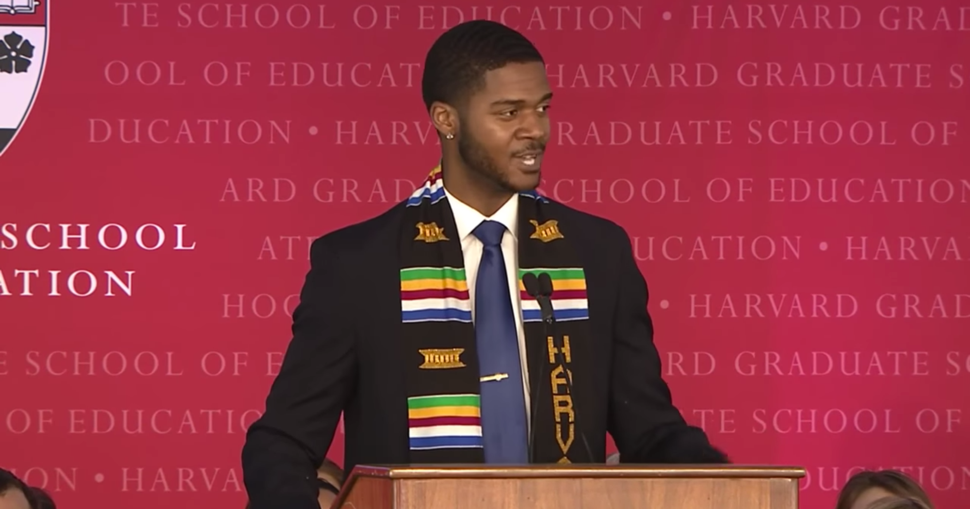 This Harvard Graduation Speech Is Going Viral is part of Graduation speech, Harvard graduate, University graduation, Harvard students, Masters degree in education, School of education - Donovan Livingston, who was receiving his master's degree in education, presented a spoken word poem during his graduation speech at Harvard