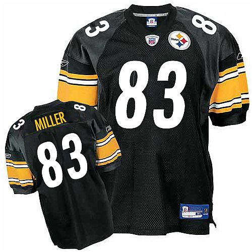 detailed look dea78 72f93 Heath Miller #83 Pittsburgh Steelers Black Reebok Authentic ...