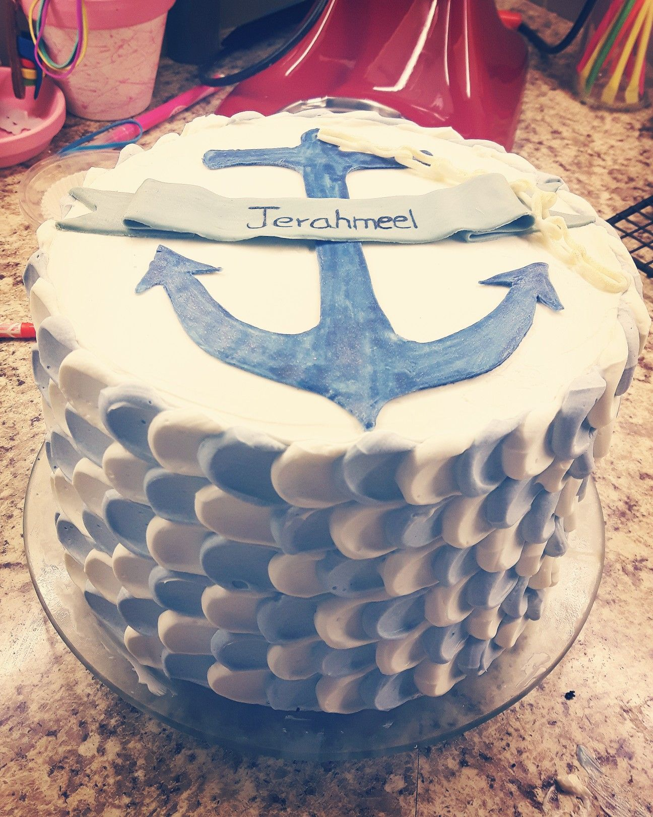Anchor birthday cake My creations Pinterest Anchor birthday cakes