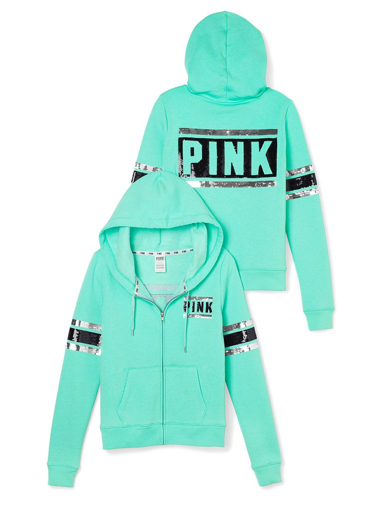 696ab5ccb6da1 Bling Perfect Zip Hoodie - PINK - Victoria's Secret | My style ...