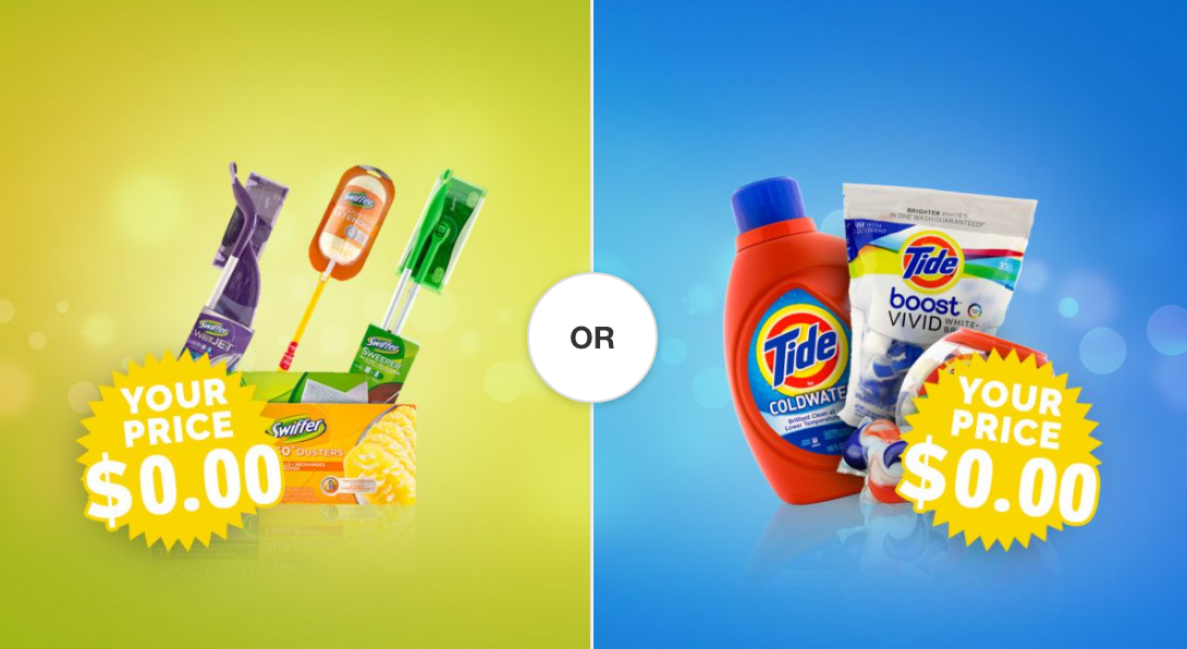 Pick your completely FREE sample now: Swiffer OR Tide? | A Penny ...