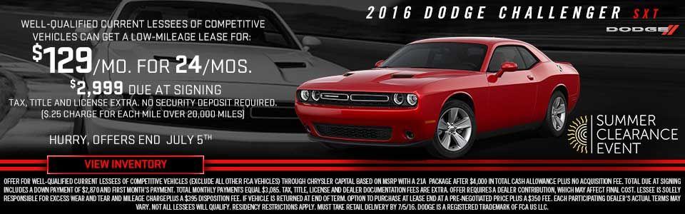 Island Chrysler Dodge >> Dodge Challenger June Lease Bay Ridge Auto Brooklyn Ny