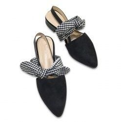 Gamiss - Gamiss Point Toe Bowknot Slingback Flats - AdoreWe.com