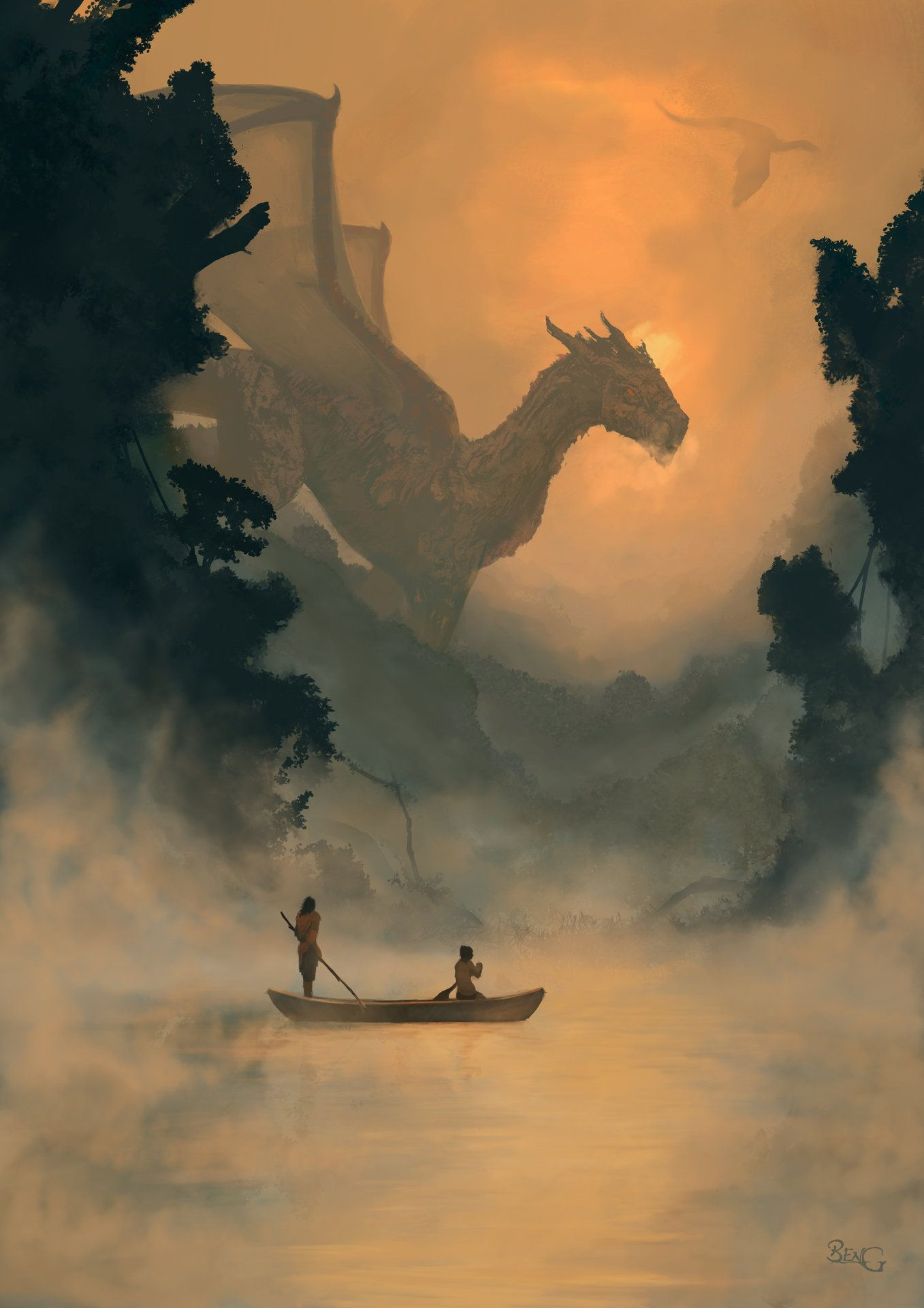 Ben Guldemond Misty Mornings Tell Me A Story Dragon Dragon Art