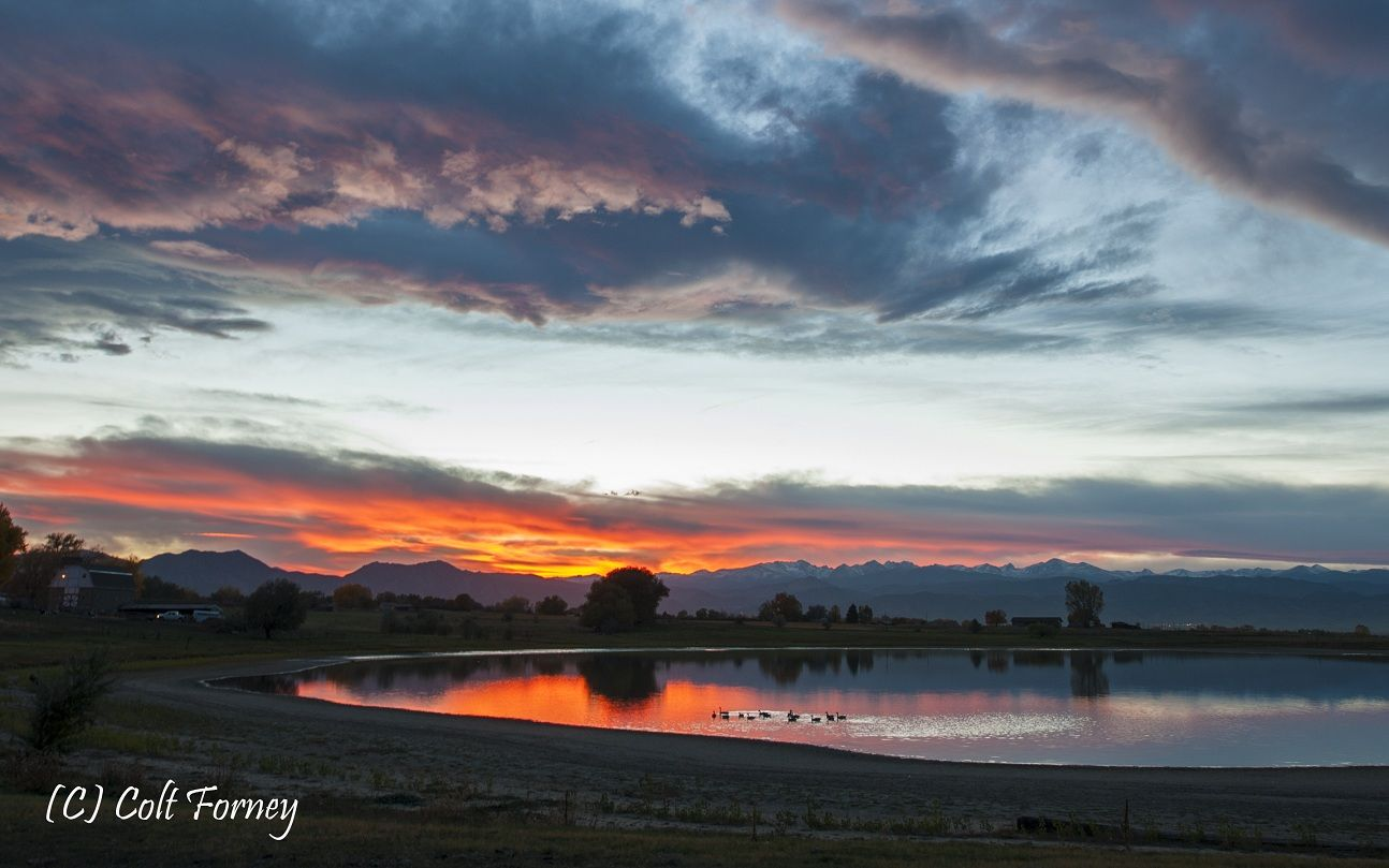 Boulder County, CO at sunset in October