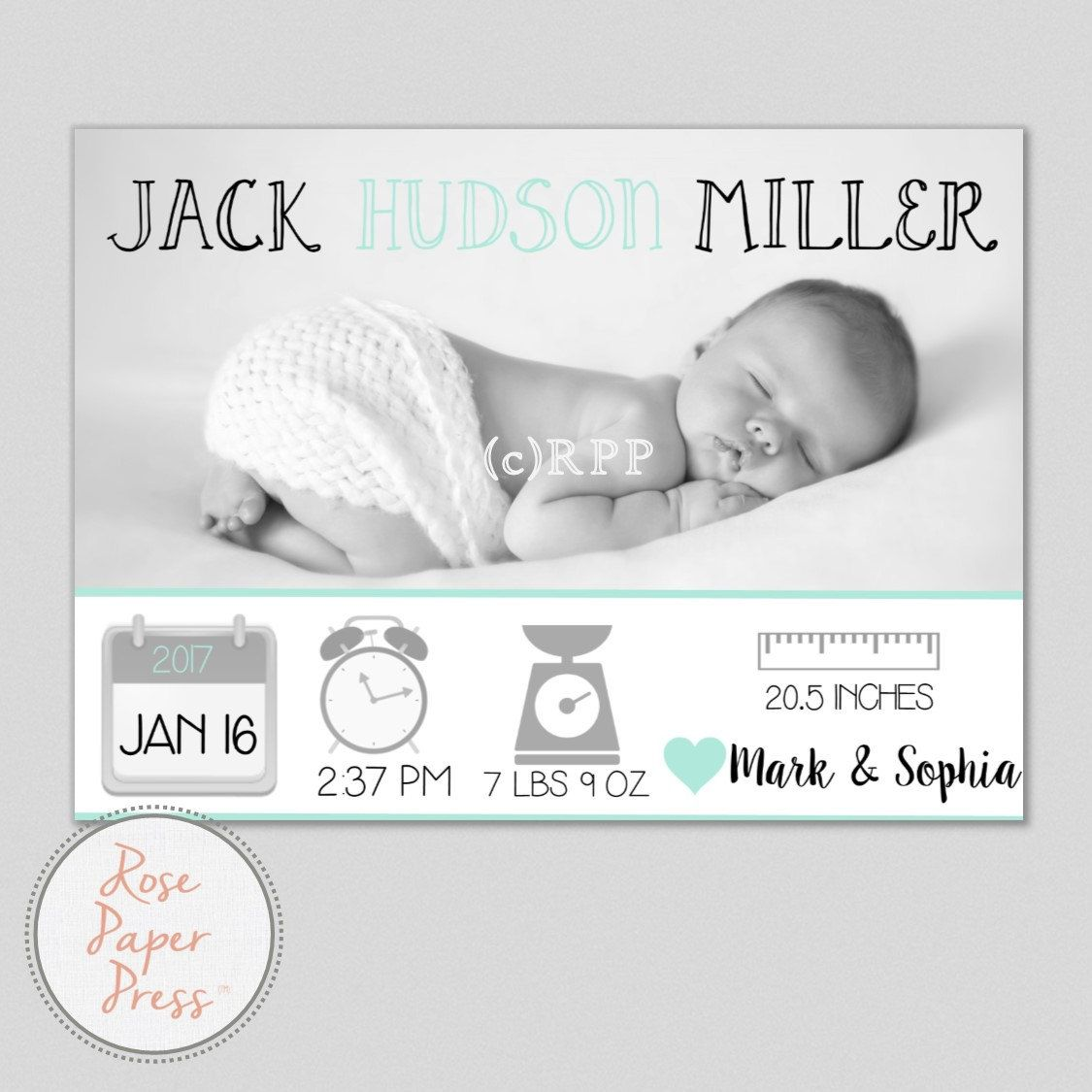 graphic regarding Printable Baby Announcement named Image Delivery Announcement Card, Icon Posted Boy or girl