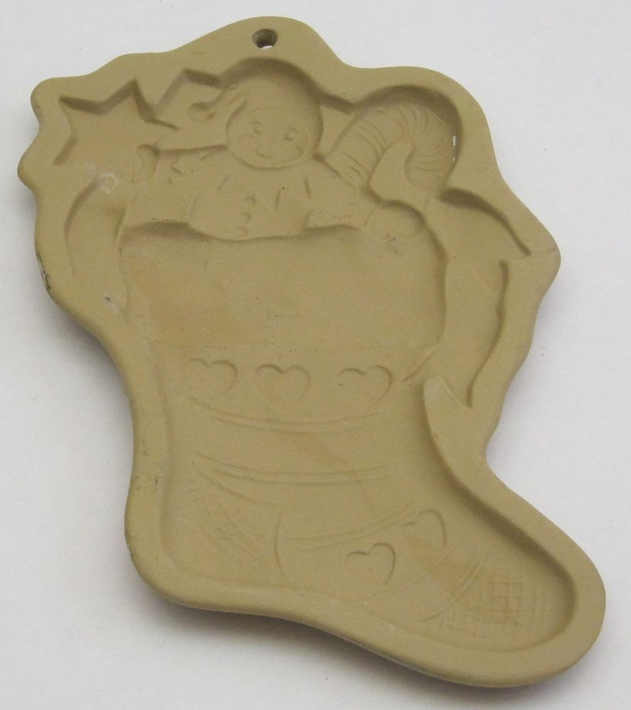 1987 Christmas Stocking Brown Bag Cookie Art Hill Design Mold
