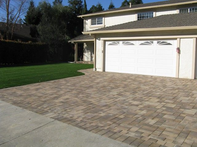 Brown Driveway Pavers : Mission series color cream tan brown style
