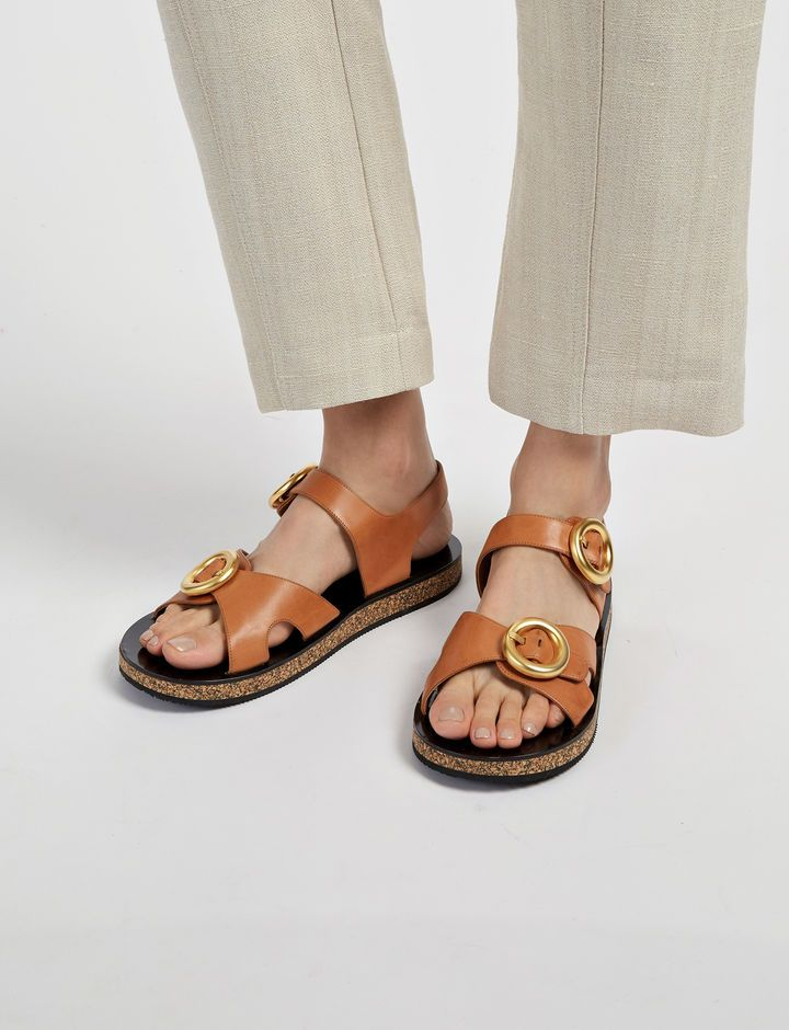 8a4482dd4a1cfa Nerd sandals are trending... click to buy these Joseph Calf Leather Buckle  Sandal. SALE PRICE £180. Click to buy