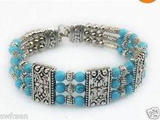 Beautiful tibet handmade style tibetan silver turquoise Bracelet 2014