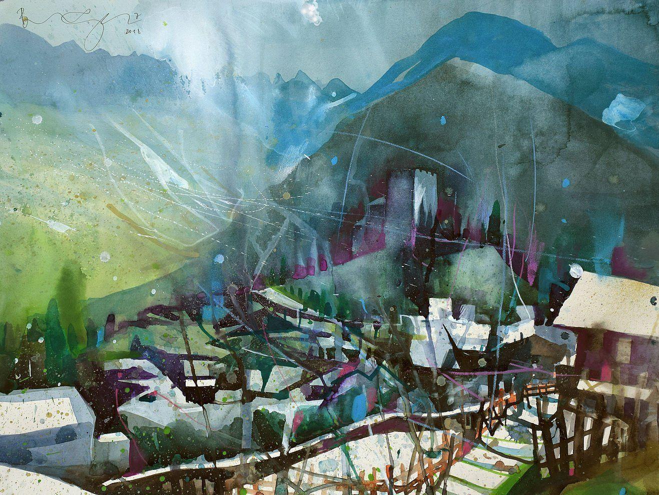 Werke Bernhard Vogel Painting Art Aquarium