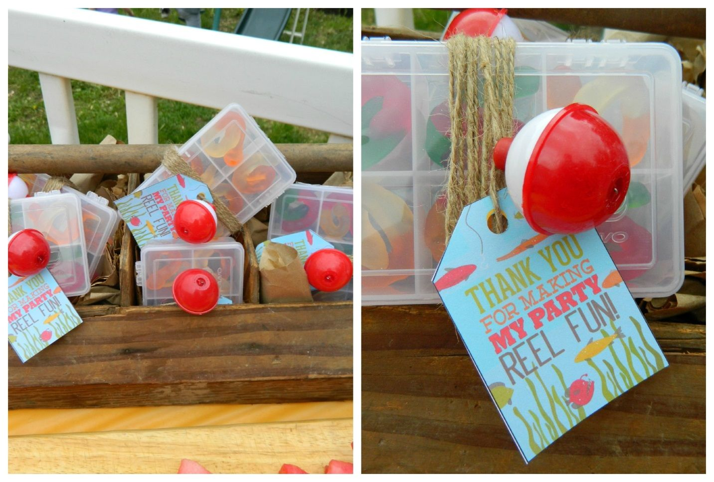 Camping and fishing themed party foods fishing party for Fish themed party food
