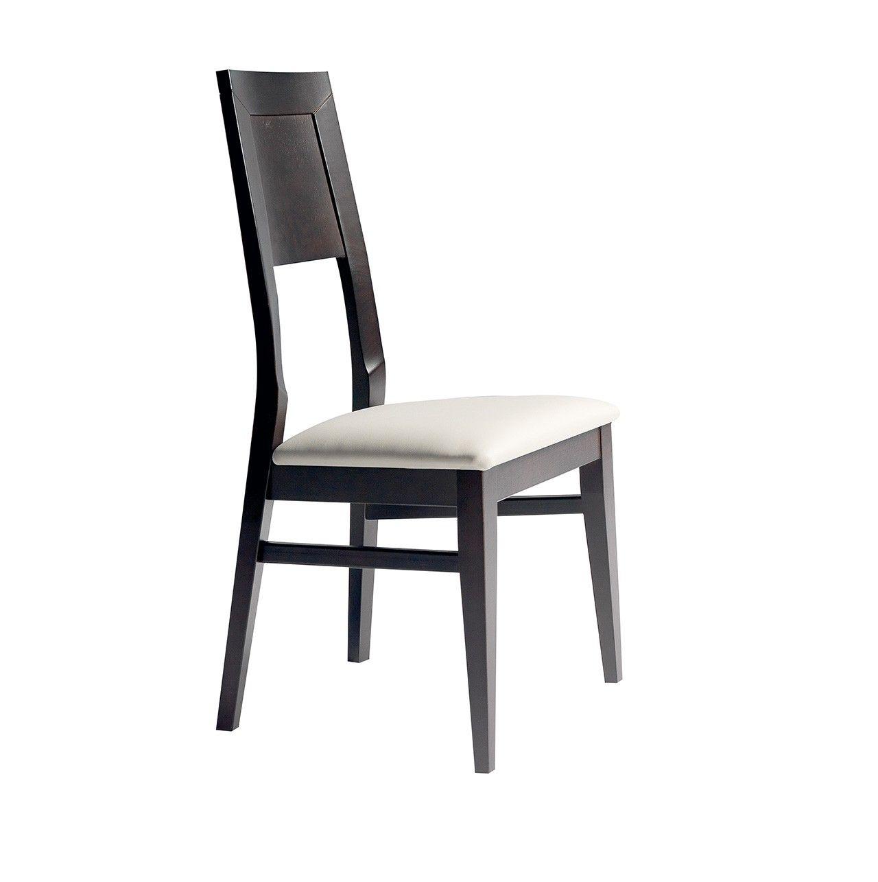 silla de madera moderna ideal para restaurante de carta