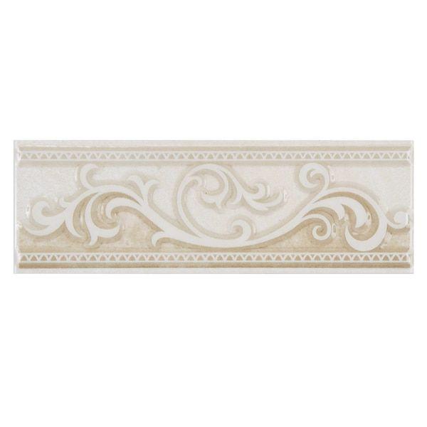 Accent Piece For Wall 5x8: SomerTile 2.5x8-inch Drift Limestone Ceramic Listello Trim