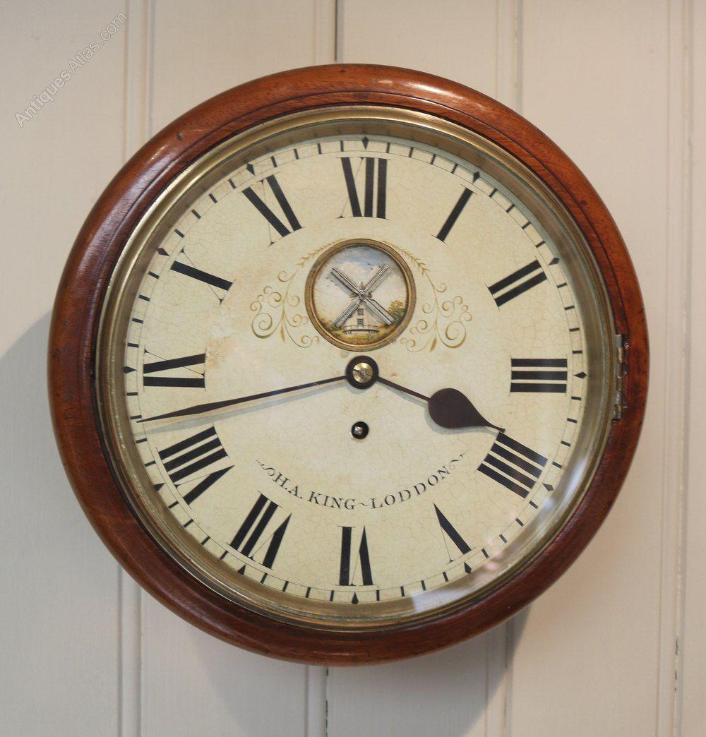 Antiques Atlas Mahogany 10 Dial Wall Clock With Windmill Automatic Wall Clock Antique Wall Clocks Clock