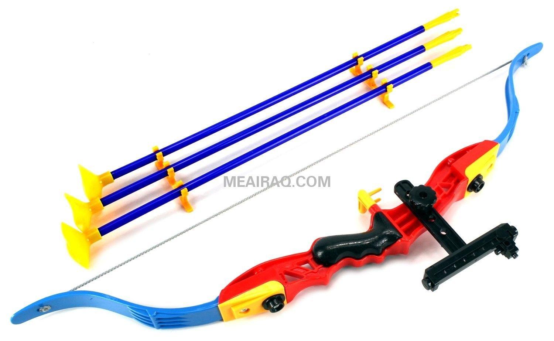 هل يحب طفلك ان يكون روبن هوود لعبة جميلة ومسلية للاطفال قوس نشاب و هدف السهم المتطور مع إمكانية عالية ودقيقة في تحديد الهدف Toy Bow And Arrow Toys Playset