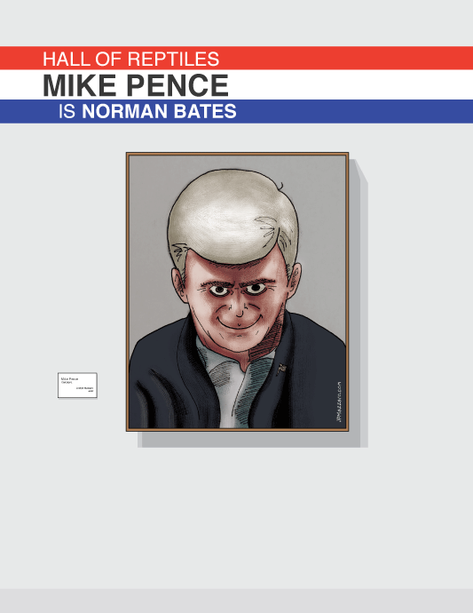 Mike Pence Is Norman Bates Norman Bates Mike Pence Design Working