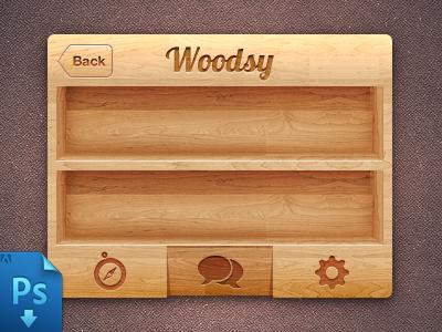 Dribbble - IPhone wood Ui(PSD Freebie) by Virgil Pana