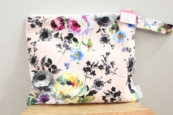 Wet Bag Wetbag Diaper ICKY Proof Floral Flower Gym