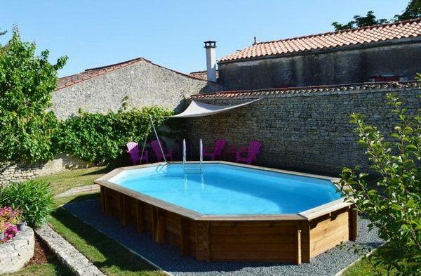 Piscinas de madera para el jard n piscinas desmontables for Jardines pequenos con piscina