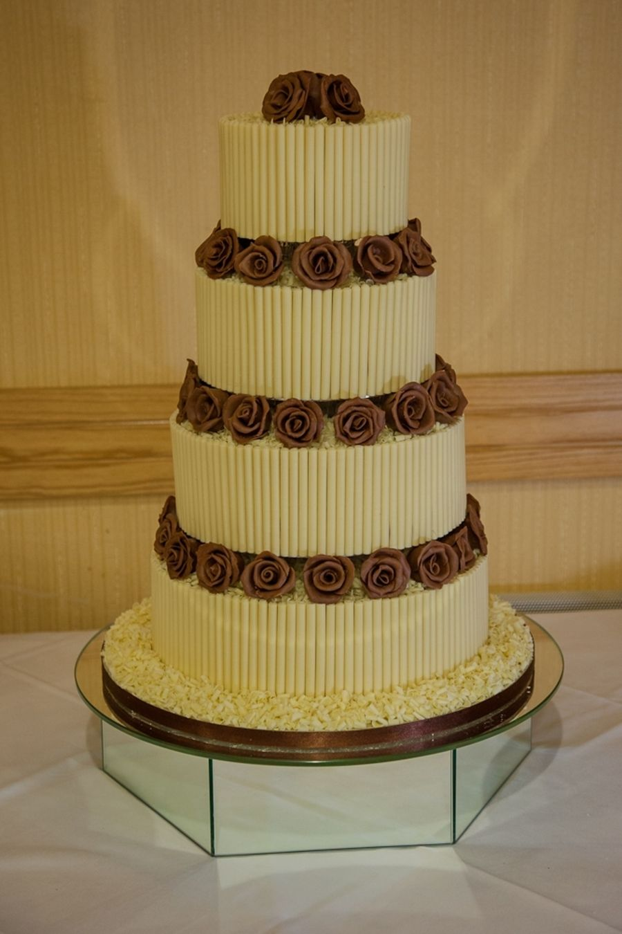 4 Tier Chocolate Wedding Cake 4 Tier all chocolate wedding