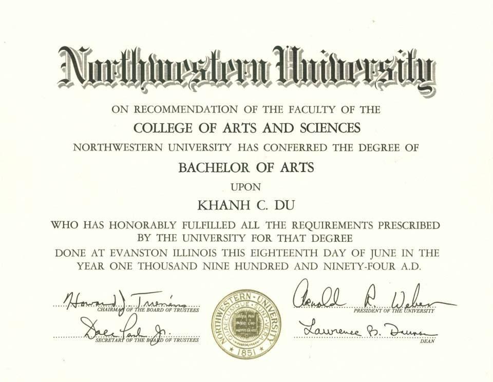 Bachelor of arts in psychology archduke khanh