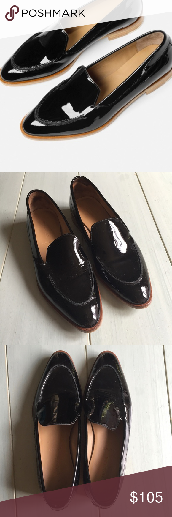 053cb8cd8f4 Everlane Modern Loafer in Black Patent Leather Same elegant Modern Loafer  now with a high-gloss finish. The leather is chrome-tanned then treated  with a ...