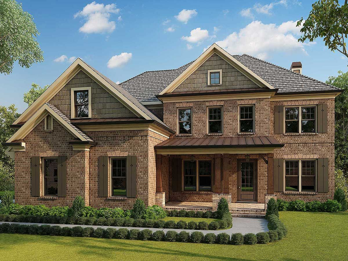 5 master bedroom house plans  Plan RR EyeCatching Five Bedroom Traditional House Plan