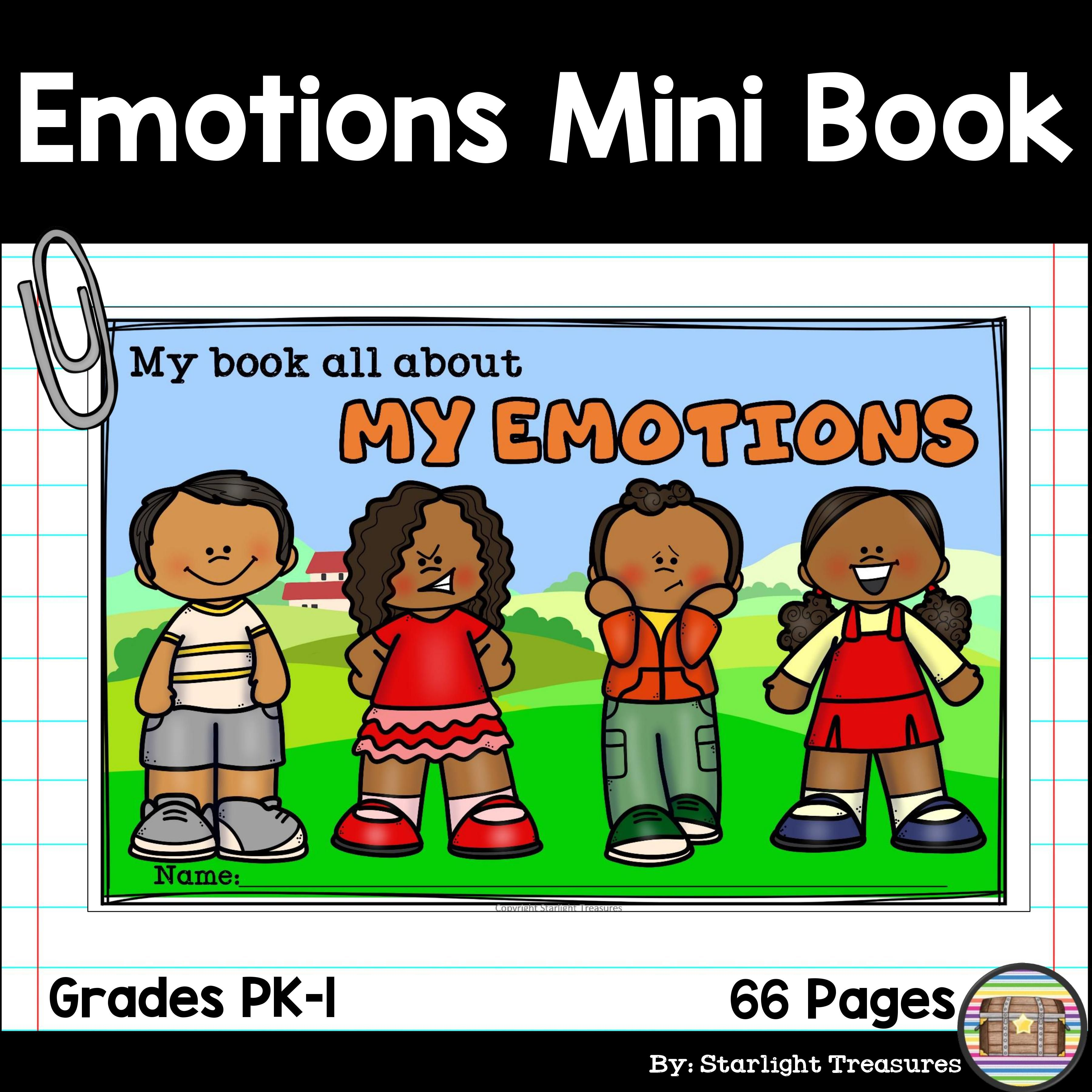 My Emotions And Feelings Mini Book For Early Readers