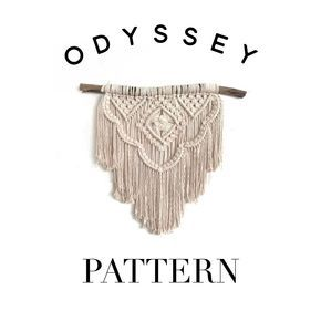 Macrame Pattern Instant Download Odyssey The Most