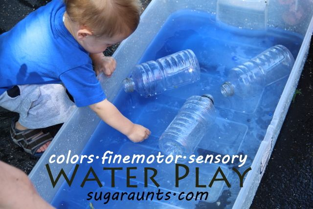 sensory, finemotor, waterplay...going along with our color theme. This is part of a 2 part sensory messy outdoor play series.