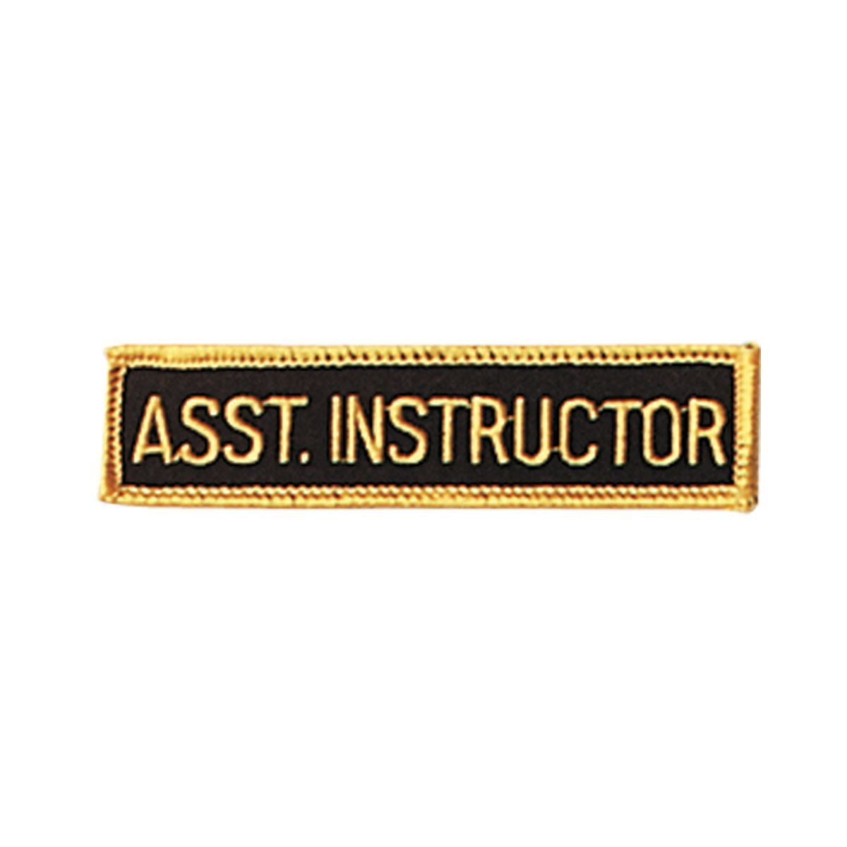 Assistant Instructor Patch c082-013-ain. Assistant Instructor Patch c082-013-ain Patch Assistant Instructor Patch.         Place on belt or uniform.         Each patch is 1 inch x 4 inches.         Heat seal backing